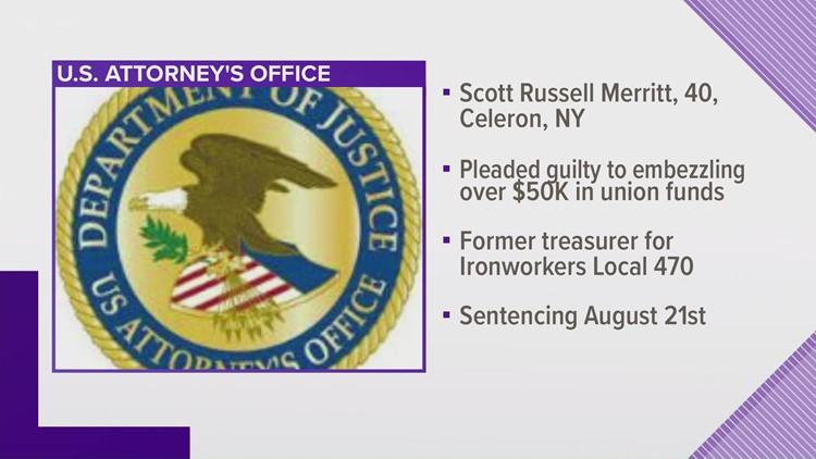 Former union treasurer embezzlement case