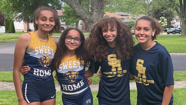 Family affair: Sweet Home's Hall sisters run unique relay