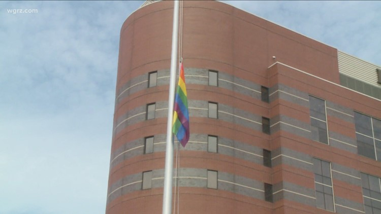 Roswell Park holds first ever LGBTQ pride flag raising ceremony