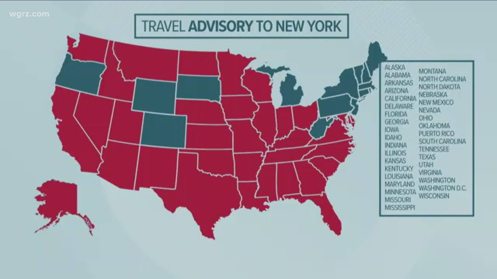 Nys Travel Advisory And Restrictions At The U S And Canadian Border Linger Wgrz Com