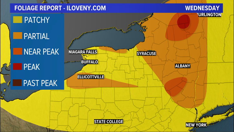 First peak fall color reported in NYS