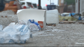 High winds scatter trash throughout Buffalo