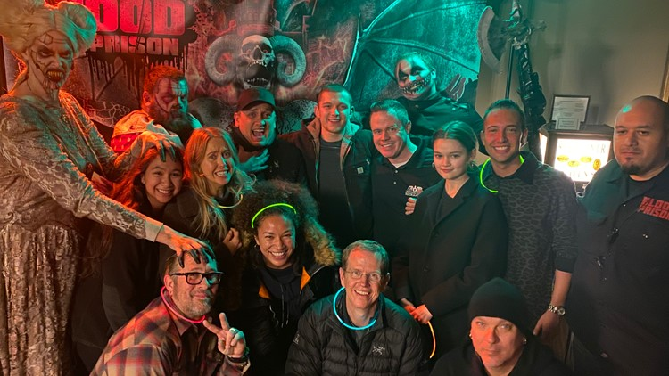 Tom Holland and Joe Russo visit Mansfield Reformatory Blood Prison