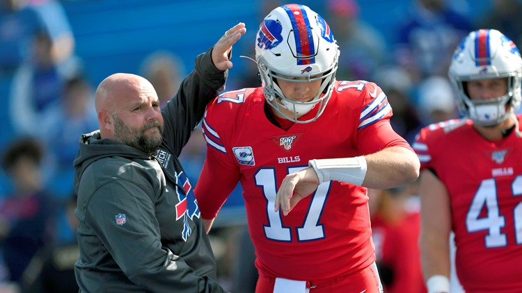 Brian Daboll Josh Allen Miami Dolphins-Buffalo Bills Football