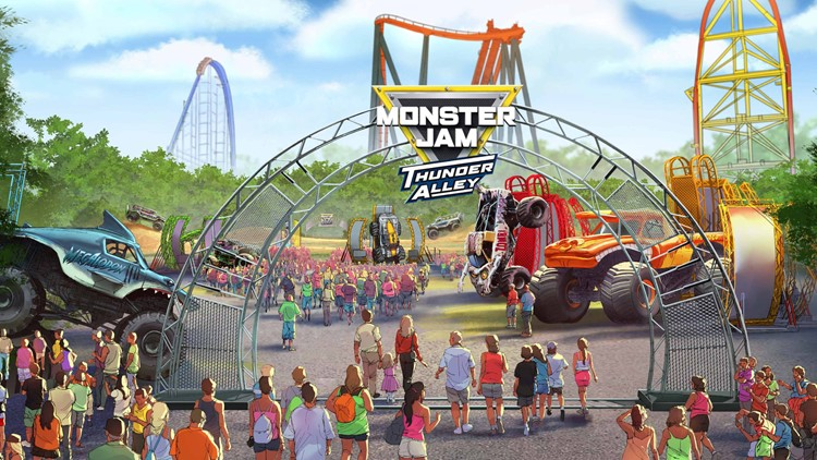 Monster Jam Thunder Alley at Cedar Point image rendering 2019