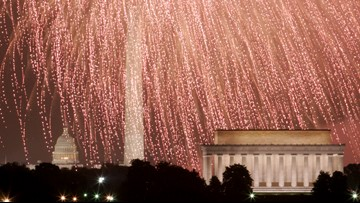 Fireworks light up National Mall during 2019 Fourth of July celebration