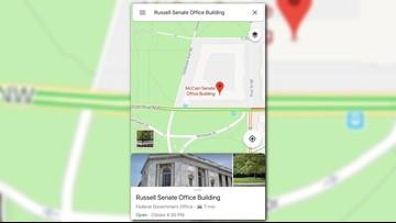 Russell Senate Office Building renamed after John McCain on Google