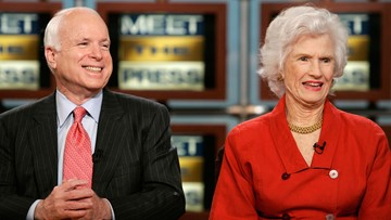 McCain's 106-year-old mom to attend his Washington services